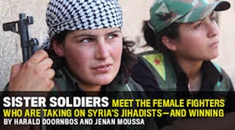 Kurdish Women Soldiers
